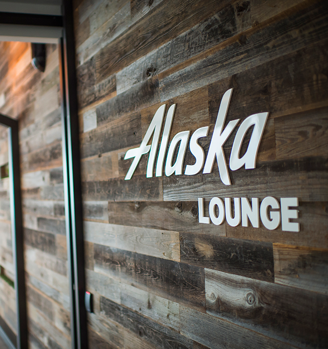 Come lounge with Alaska.