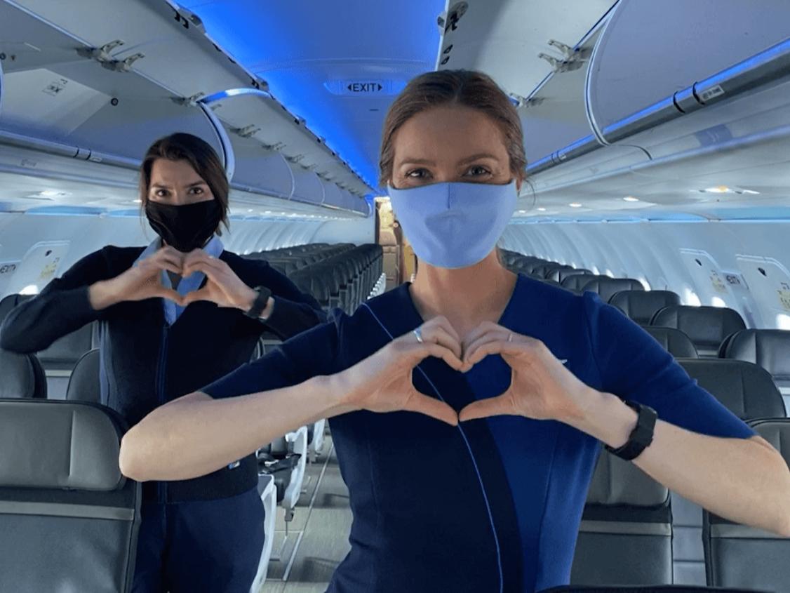 alaska airlines - flight attendants heart