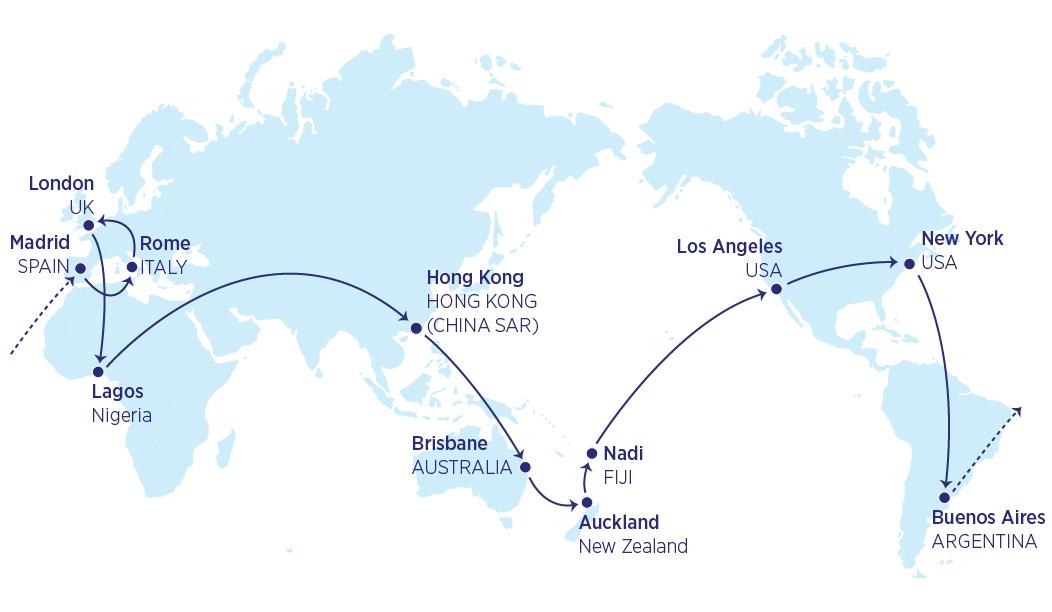 Mappa 39000 miglia