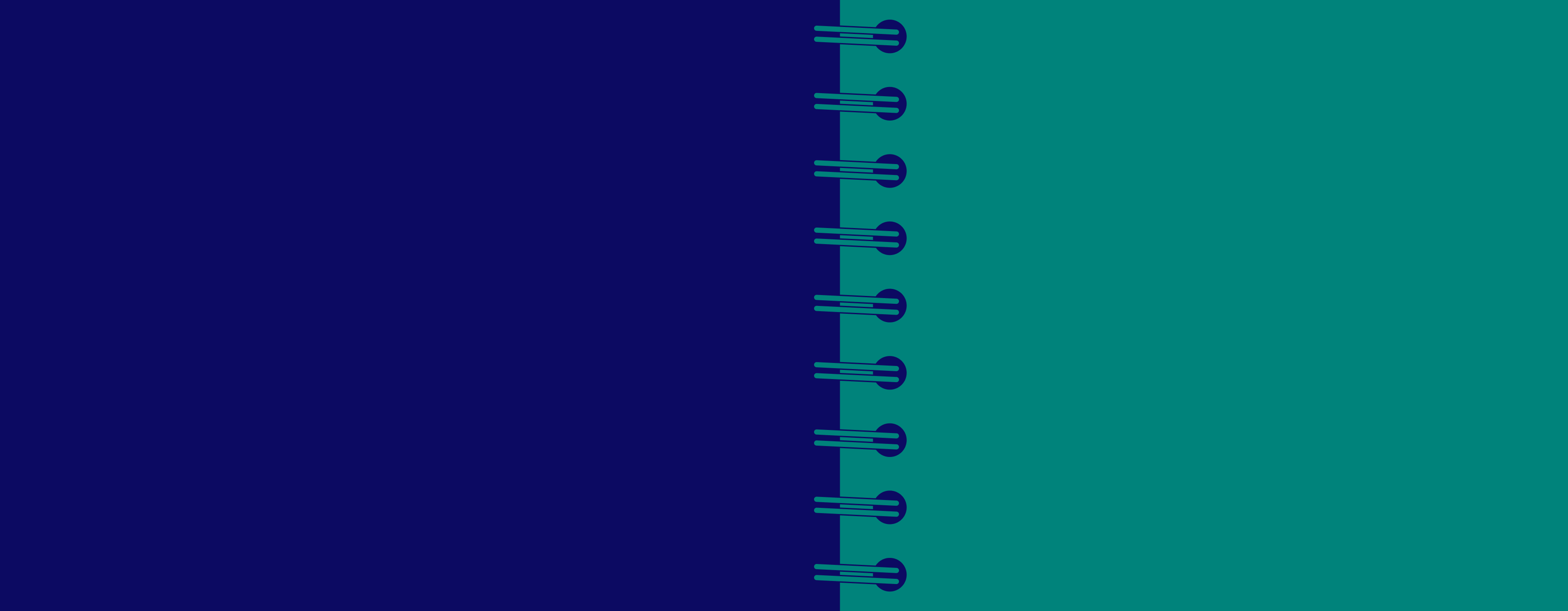 An illustration of a coiled notebook