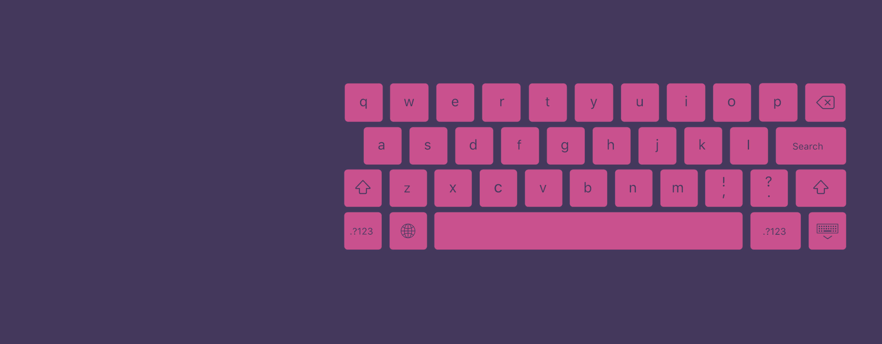 A graphic representation of a keyboard.