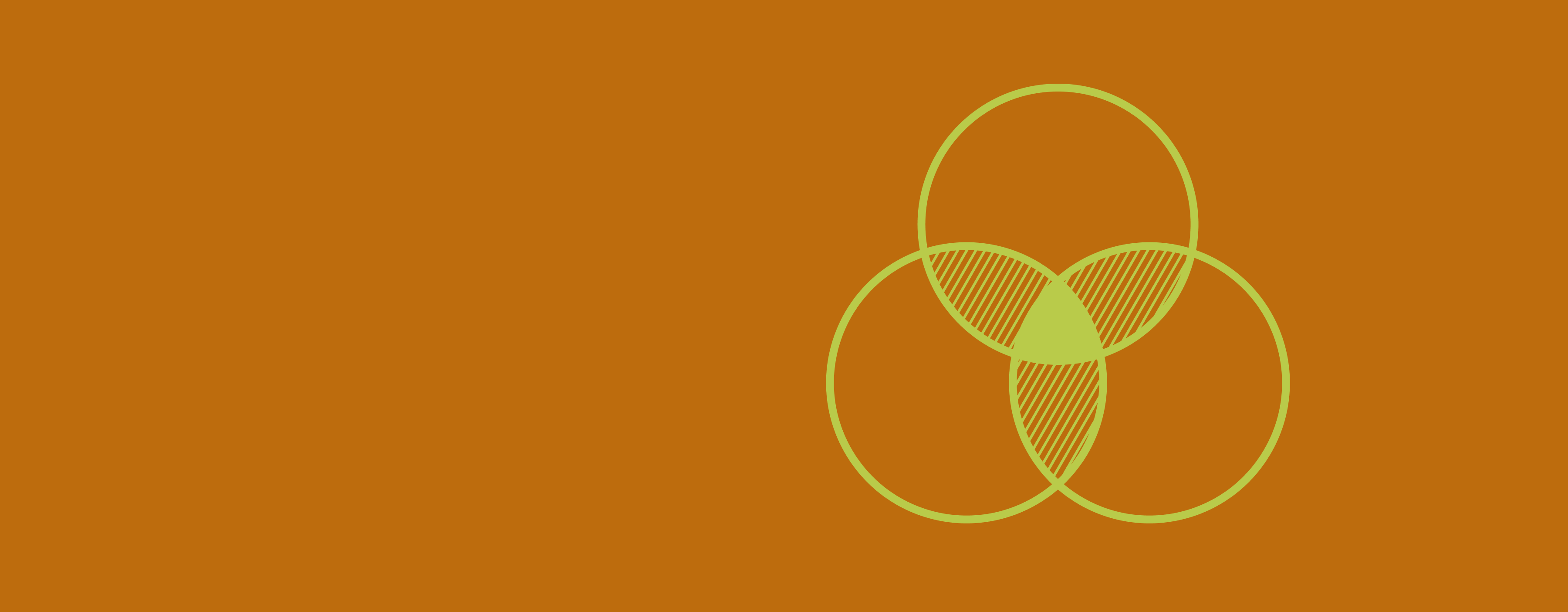 A diagram of three overlapping circles
