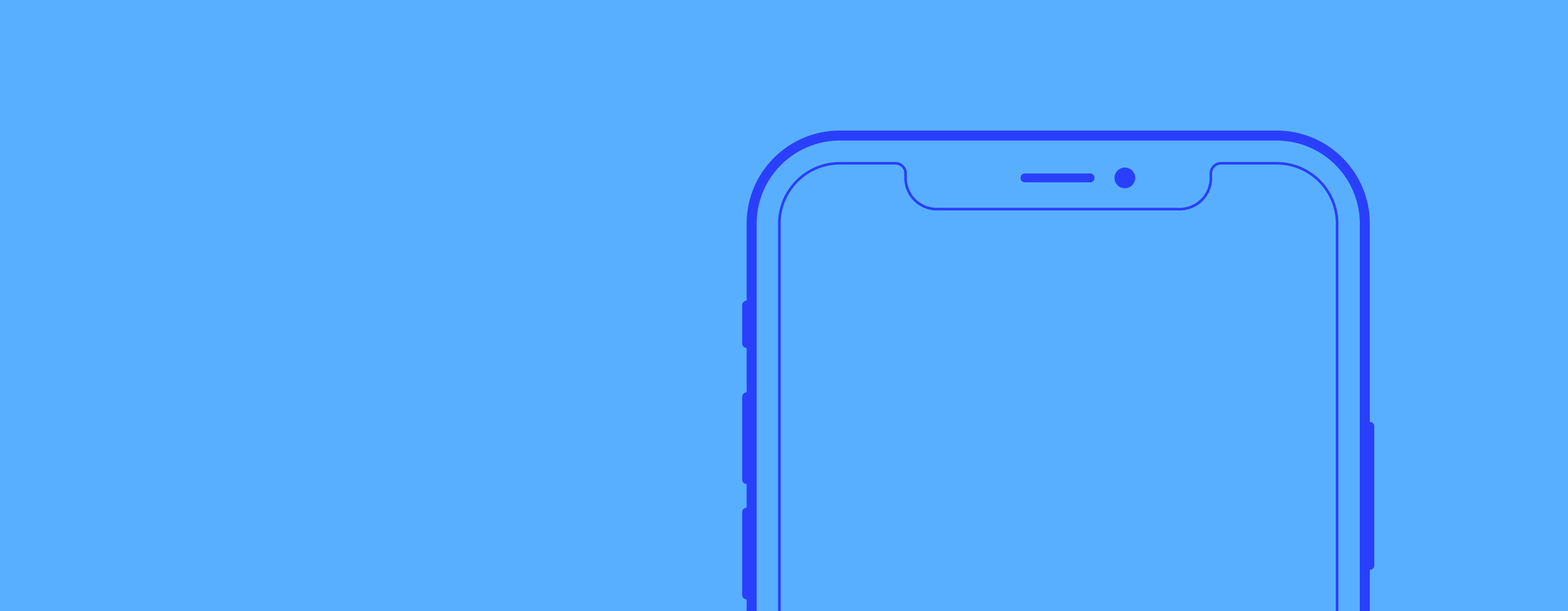 An iphone wireframe.