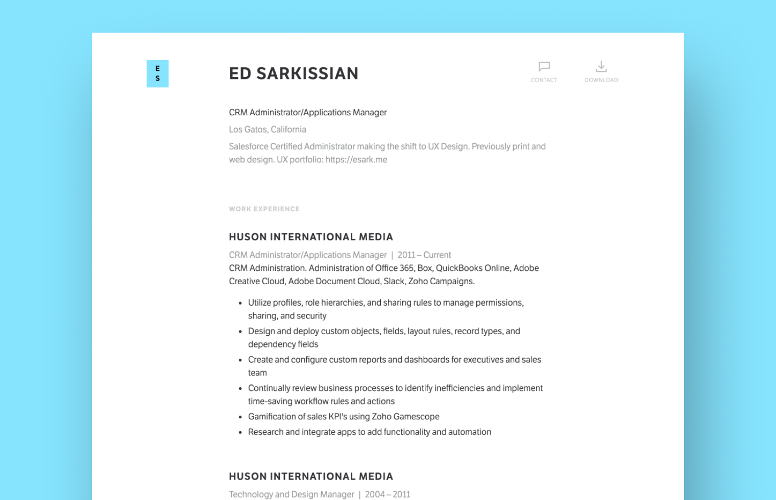 Product Manager resume example built with Standard Resume