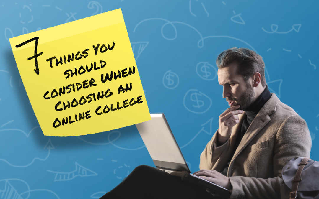 Things to consider before online college