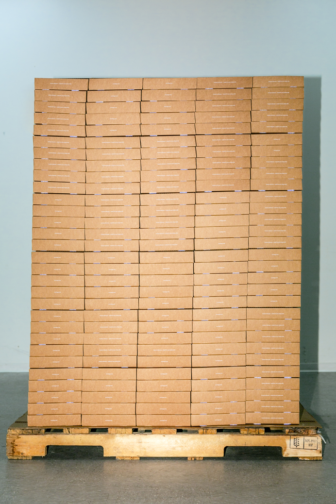 Curology boxes stacked up