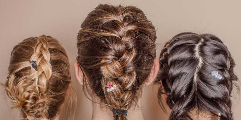 Back of heads with braided hair