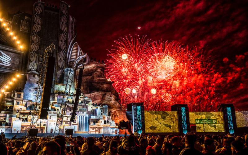 Fireworks over SOUNDSTORM Festival 2019