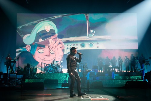 Gorillaz performing at Song Machine Live
