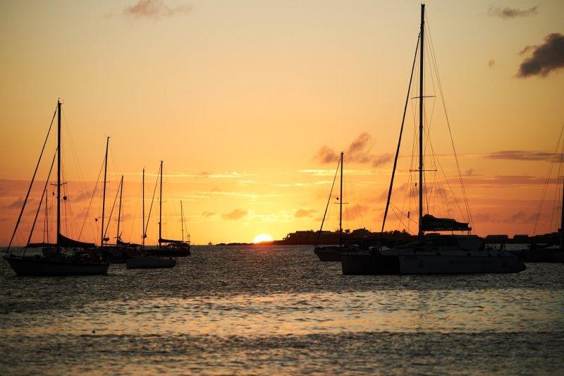 Sunset at Sint Maarten
