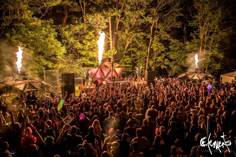 Fire Stage at Elements Music & Art Festival