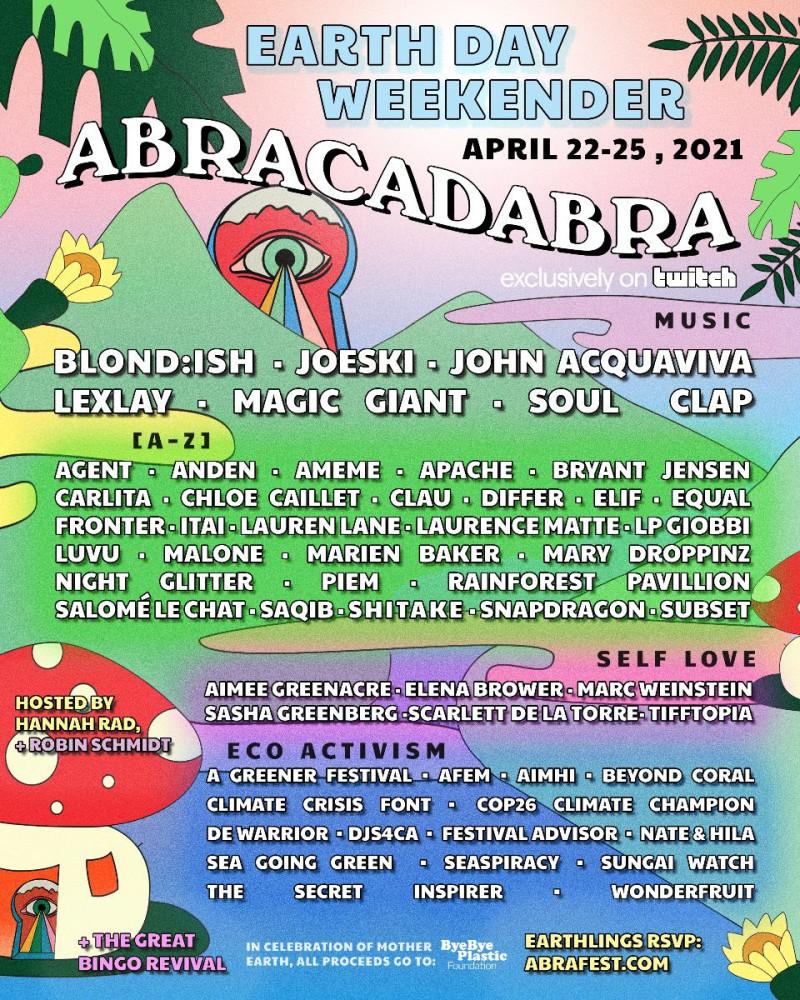 Abracadabra Presents Earth Day Weekender 4/22-25 On Twitch
