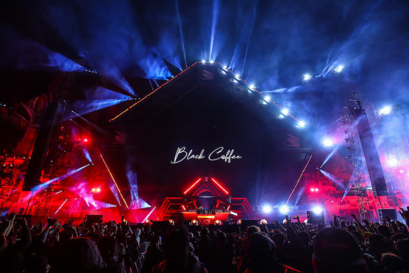Black Coffee performing on the BIG BEAST stage at SOUNDSTORM Festival 2019