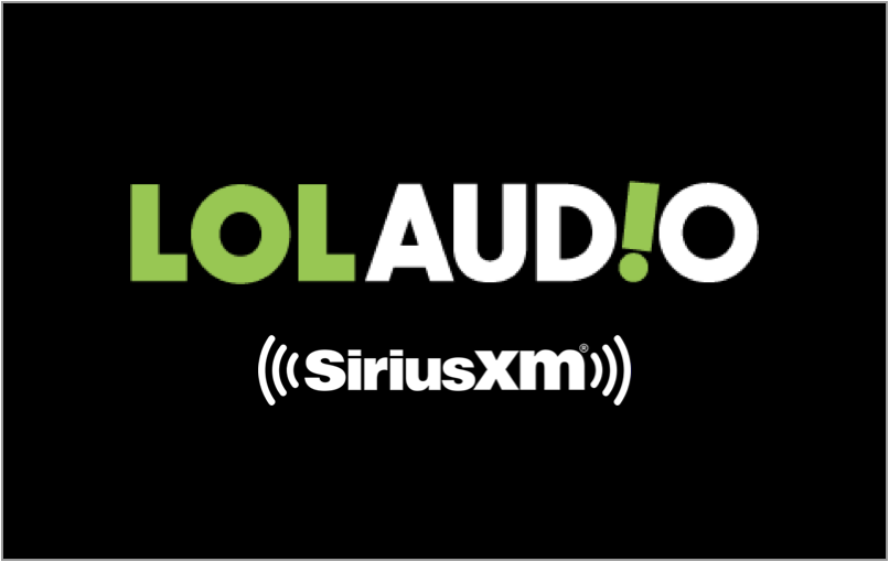 lol audio logo, siriumxm, pandora, streaming, laugh out loud audio division
