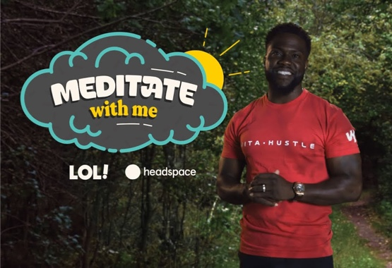 kevin hart on meditate with me poster