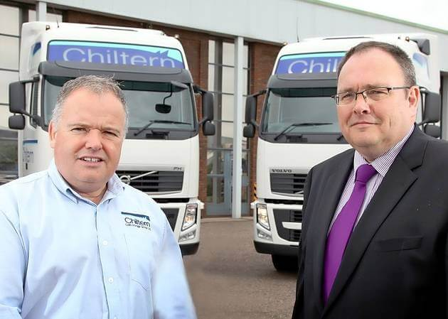 Paul Jackson, managing director of Chiltern Cold Storage (left) with Proteo's Alistair Atkinson