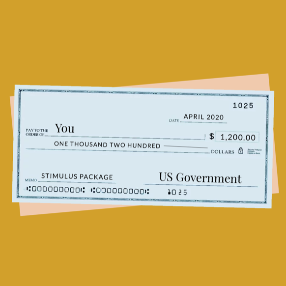An illustration of a check for $1,200, made out to you.