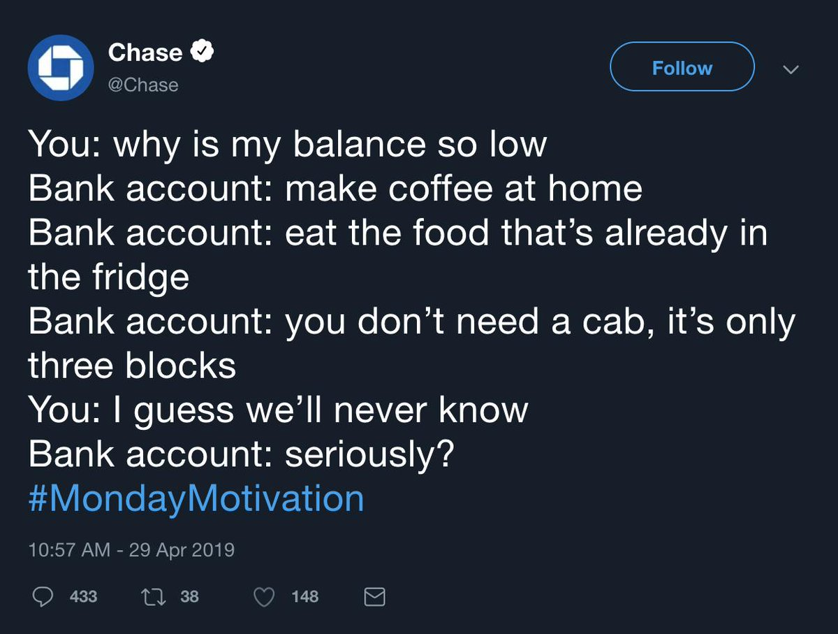 that Chase tweet