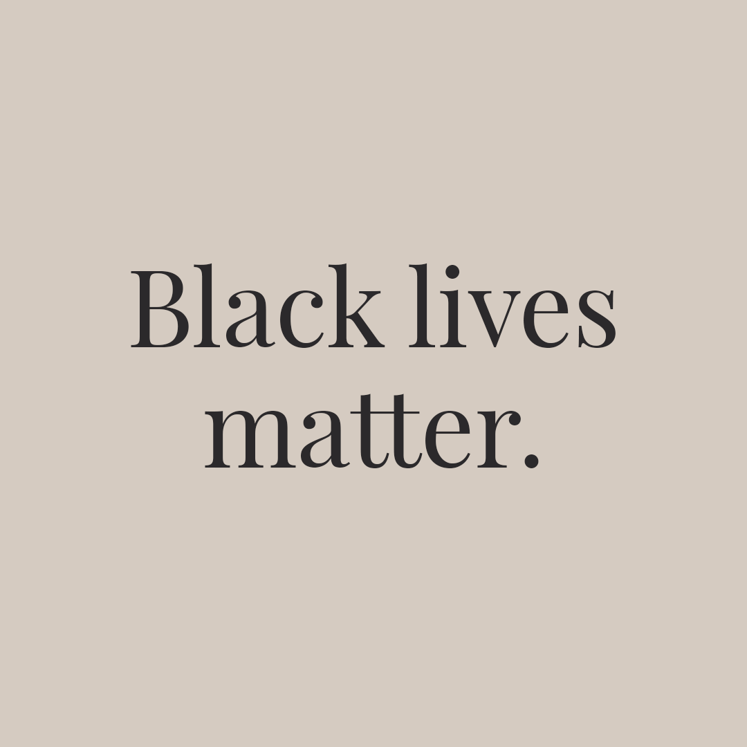 A graphic reading Black Lives Matter.
