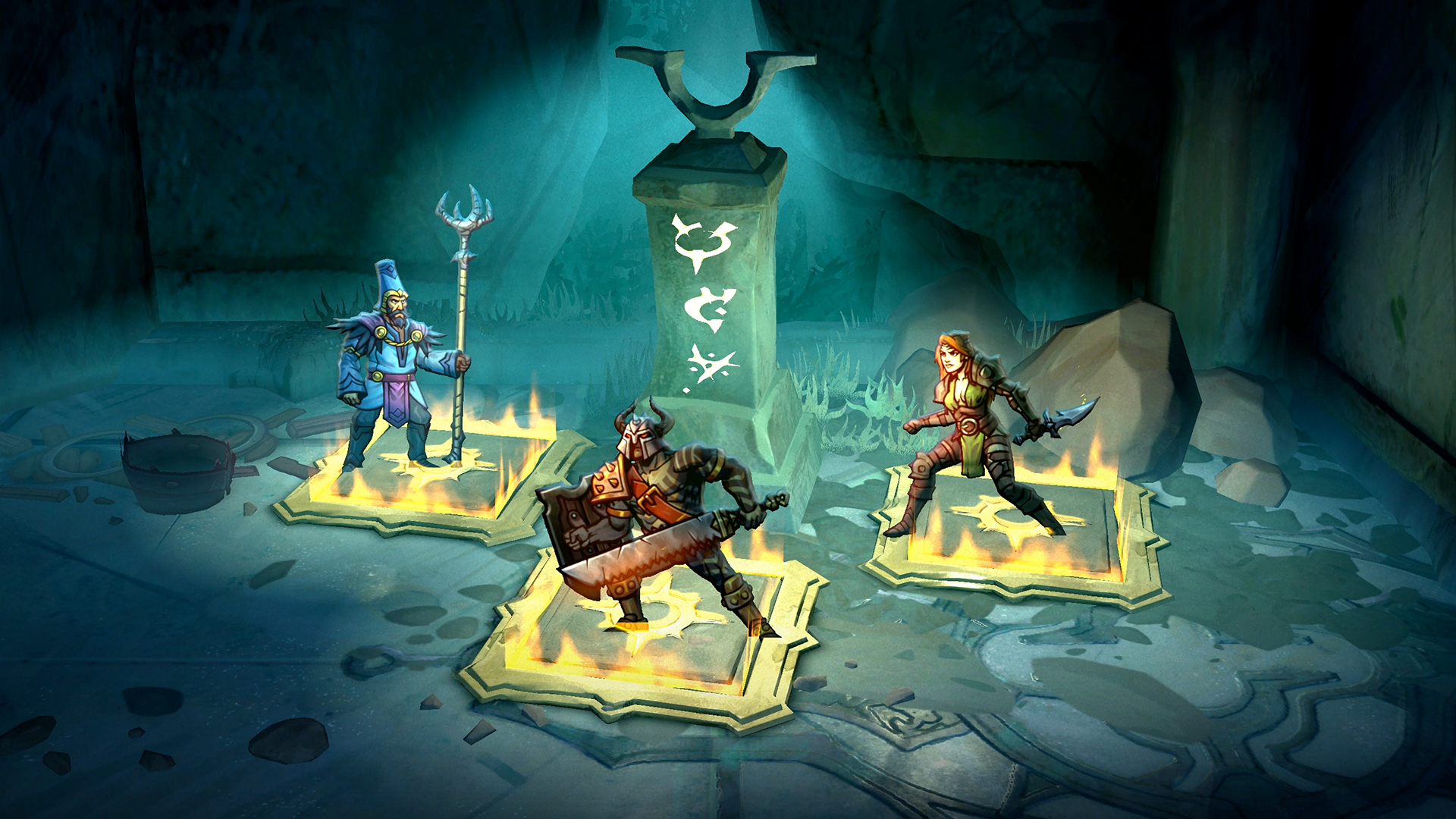 Band together with two friends to challenge the legendary dungeons