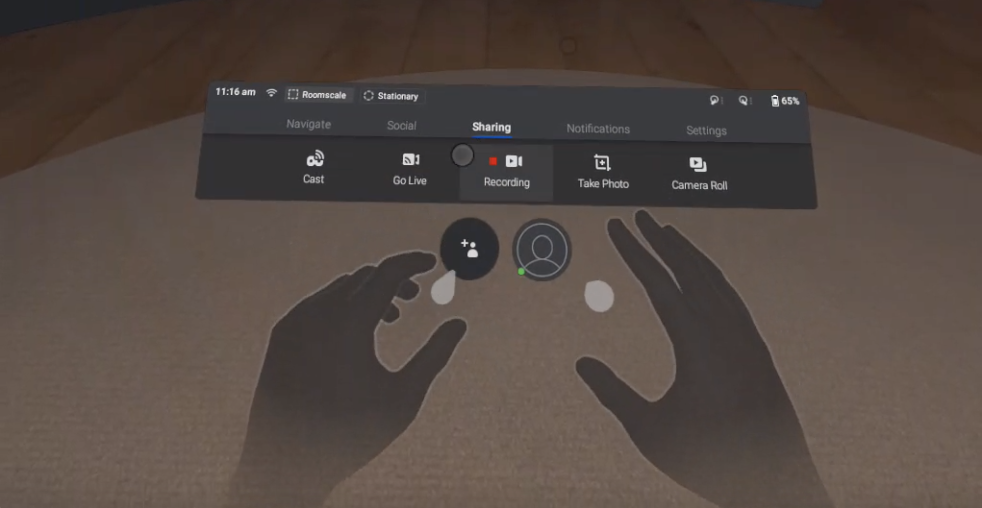 Oculus Quest Hand Tracking Screen Shot
