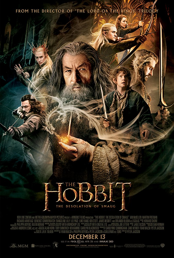 Hobbit: The Desolation Of Smaug, The Movie Cover
