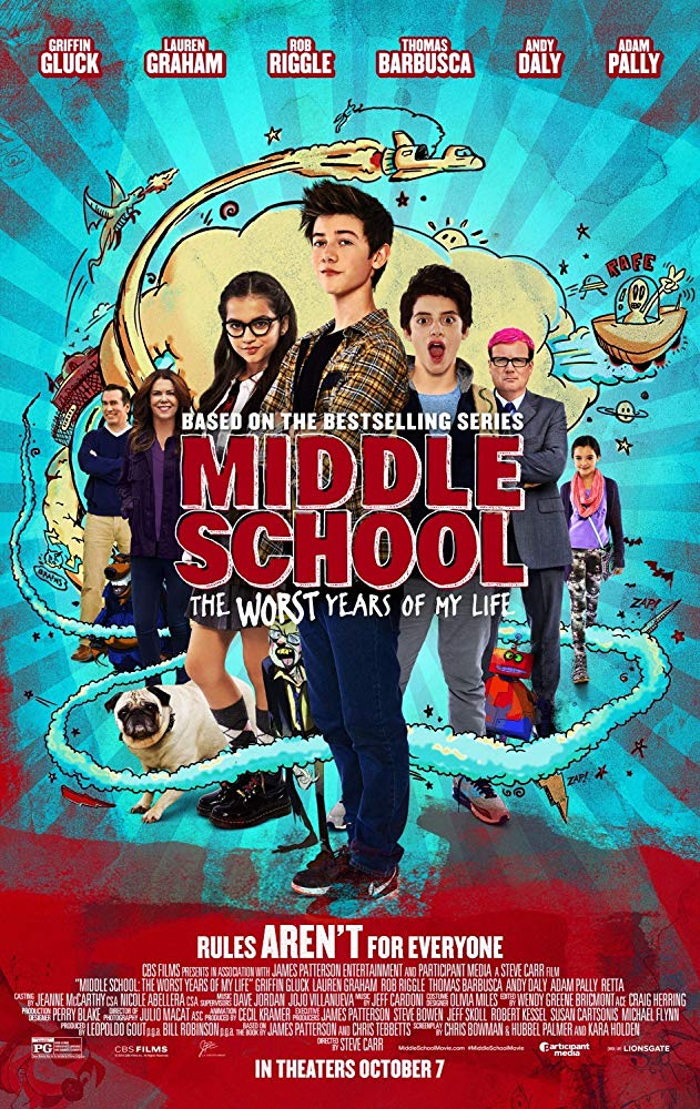 Middle School: The Worst Years of My Life Movie Cover