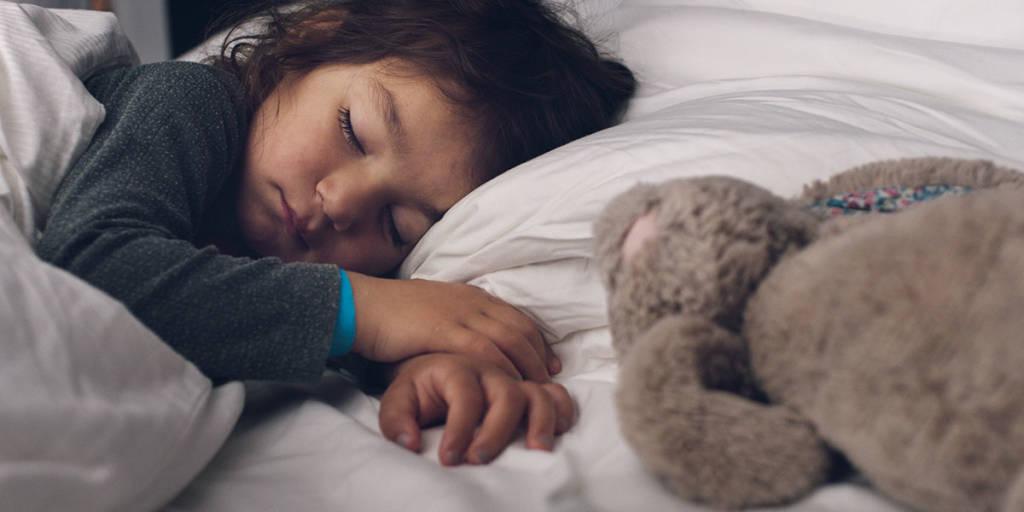 Child sleeping onboard - Newcastle to Amsterdam