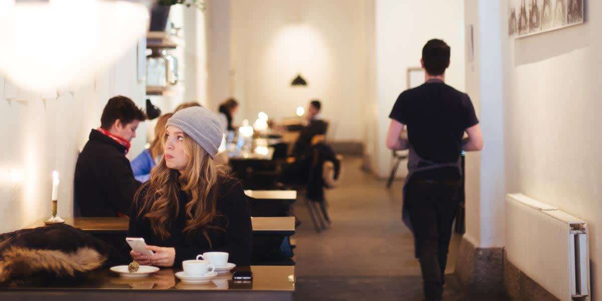Cafe in Sweden