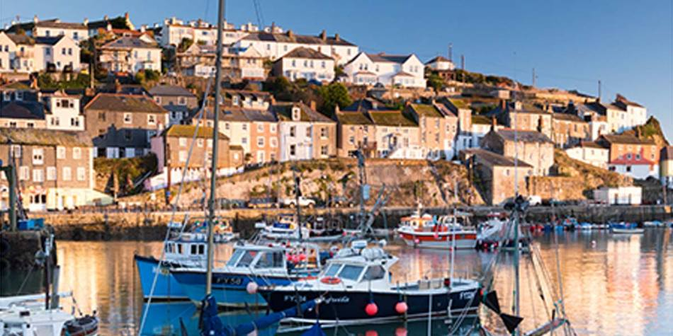 Beautiful site of a village in Mousehole-Cornwall