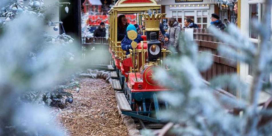 Small train ride in Tivoli Gardens at Christmas