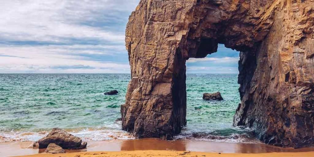 Rocky seaside in Brittany