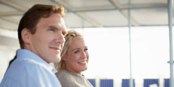 Couple enjoying DFDS ferry