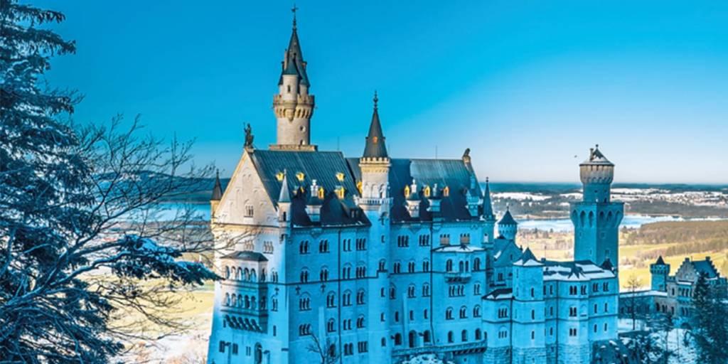 Germany in winter, castle