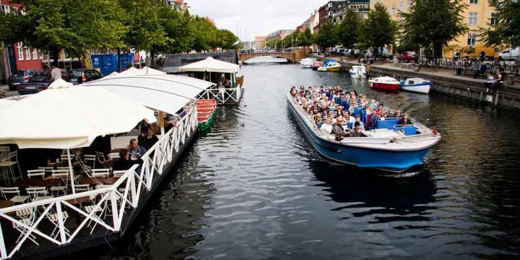 Canal-boat-in-Copenhagen
