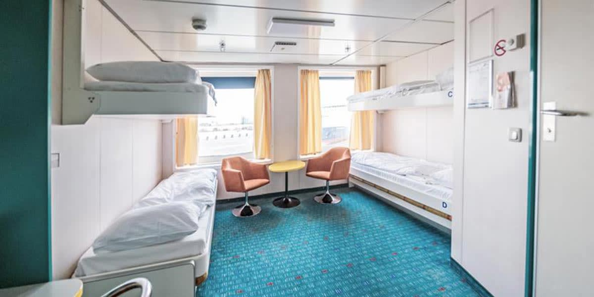 Pet friendly cabin onboard Patria Seaways ferry