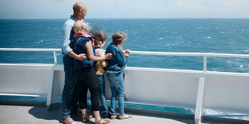 Multiple trip offer - family on the deck Dover-France