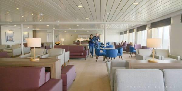 Premium Lounge auf der Route Calais-Dover