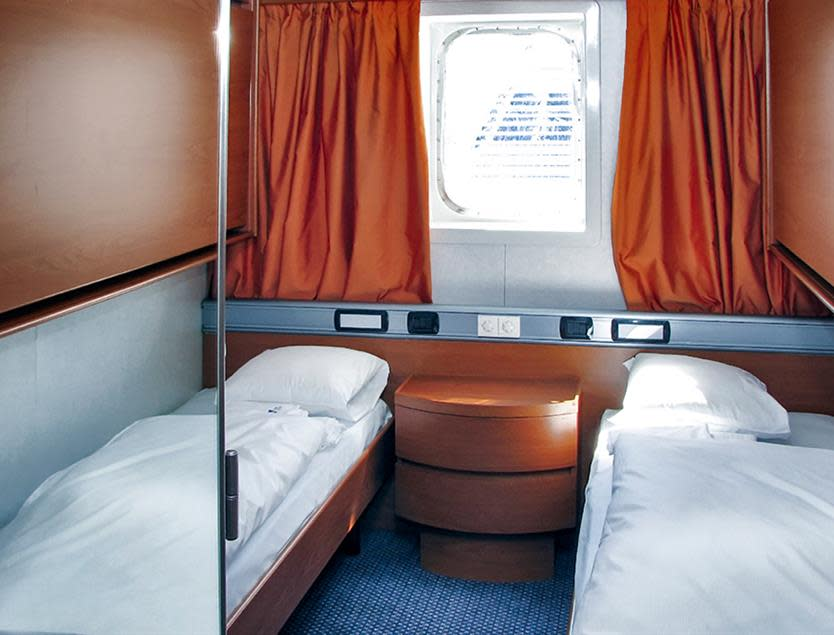 Seaview cabin onboard DFDS ferry