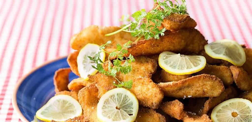 Christmas Buffet Breaded fish fillets
