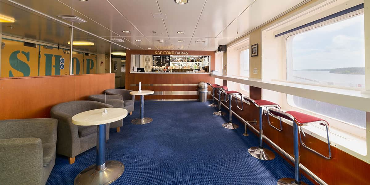 Captain's bar on Patria Seaways
