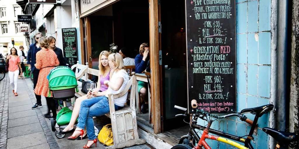 Copenhagen side street cafe