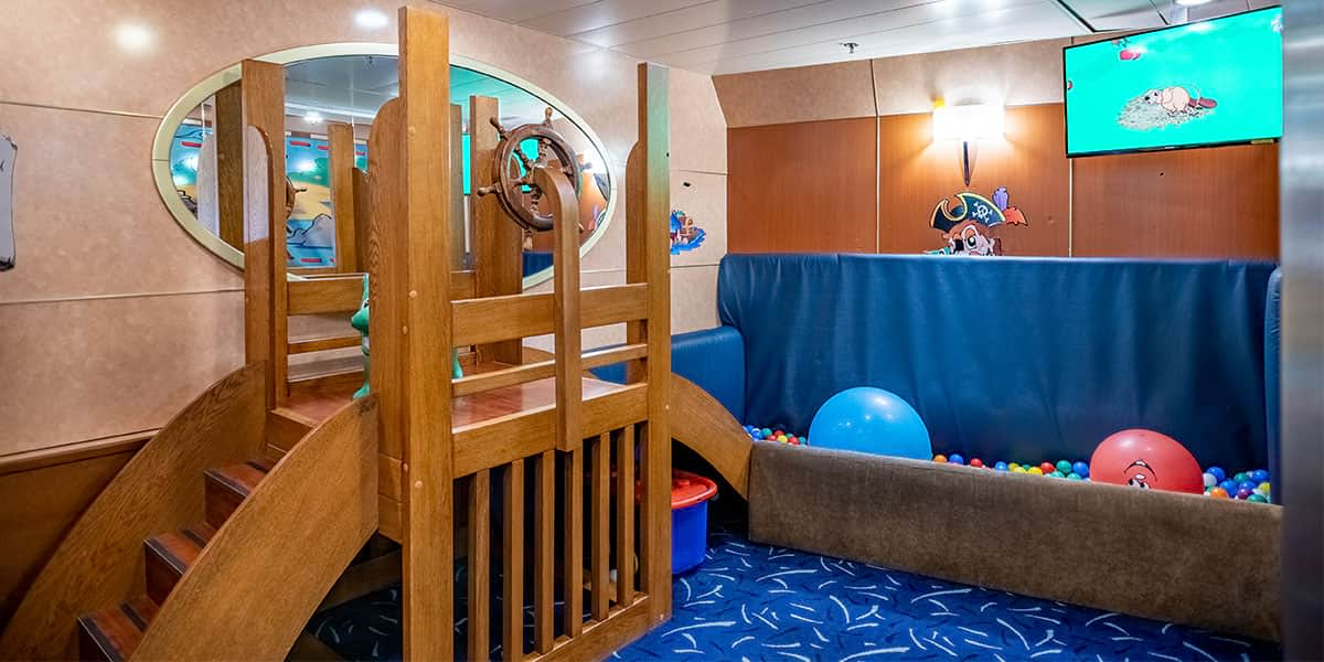 Kids room onboard Athena ferry