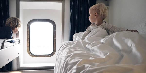 Seaview cabin onboard Newcastle-Amsterdam
