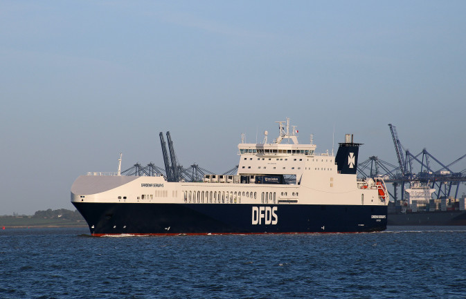 Gardenia Seaways sailing out of Felixstowe