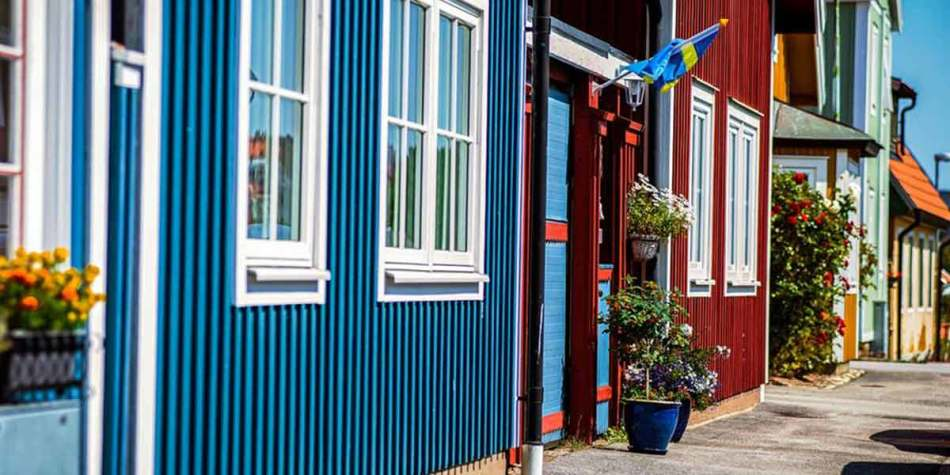 Colourful buildings in Karlskrona