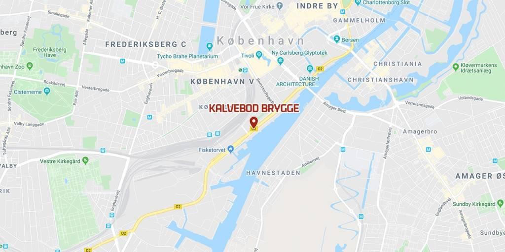 Kart - Kalvebod brygge - København