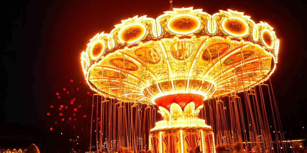 Tivoli Christmas - swings