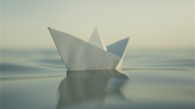 Purpose, paper boat, small