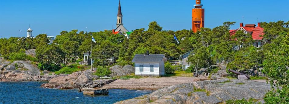 Hanko, Finland, in the summer